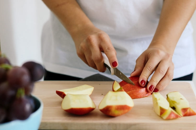 Oppbevar eple i pose