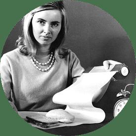 Kvinne med det første bakepapiret