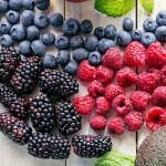 Forskjellige frosne bær med Toppits
